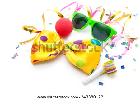Colorful carnival background with stripes and mask - stock photo