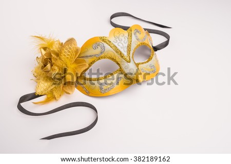 Colorful carnival mask on a white background