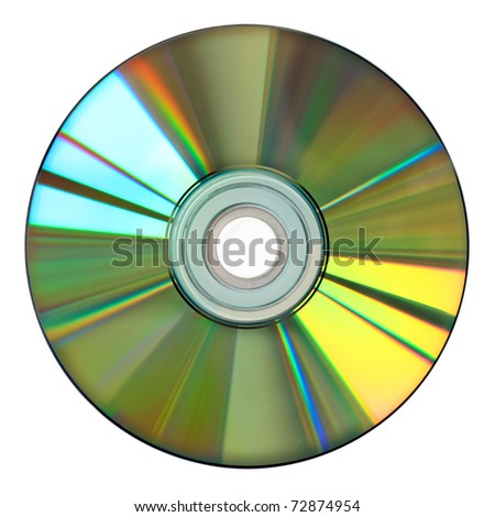 colorful cd isolated on white - stock photo