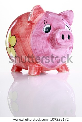 Colorful ceramic piggy bank