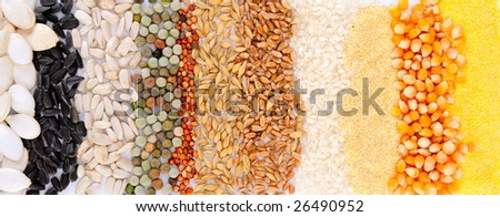 colorful cereal seeds