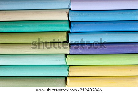 colorful chalk pastels - stock photo