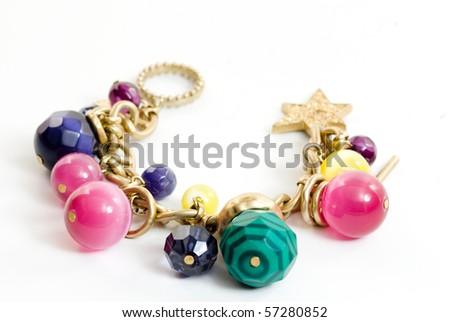 Colorful charm bracelet