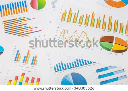 colorful chart graph - stock photo