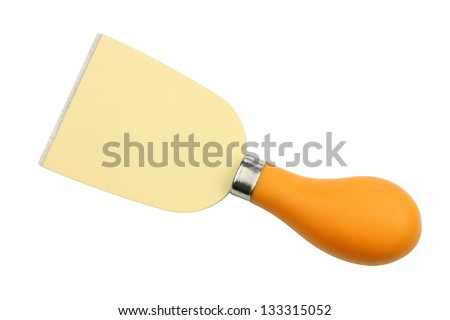 colorful cheese knife on a white background