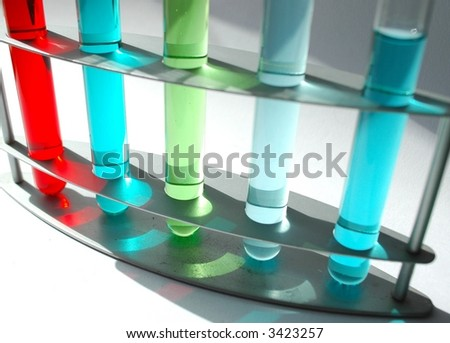 Colorful chemical - stock photo