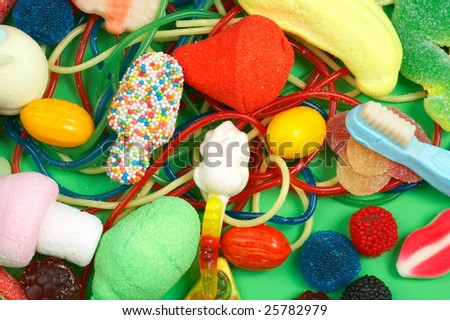 colorful chewing bonbons - stock photo