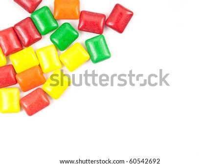 Colorful Chewing Gum with Space for Text - stock photo