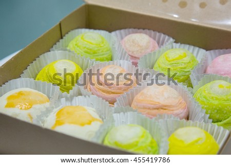 Colorful chinese cake - stock photo