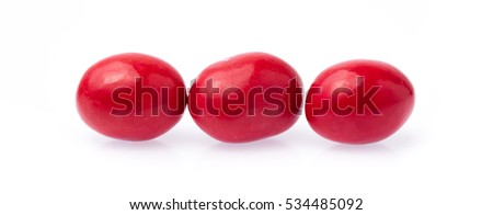 colorful chocolate candies buttons isolated on white background