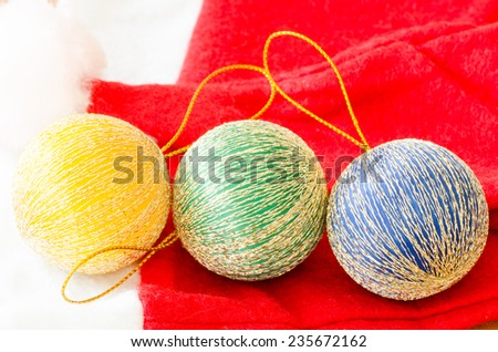 Colorful christmas ball for decoration on Christmas or New year