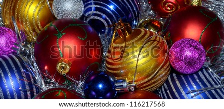 Colorful Christmas Balls as a background