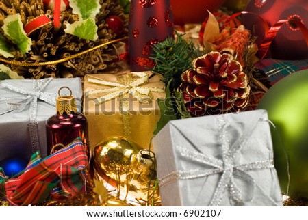 colorful christmas holiday decoration design