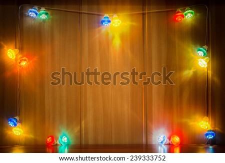 colorful Christmas lights - stock photo