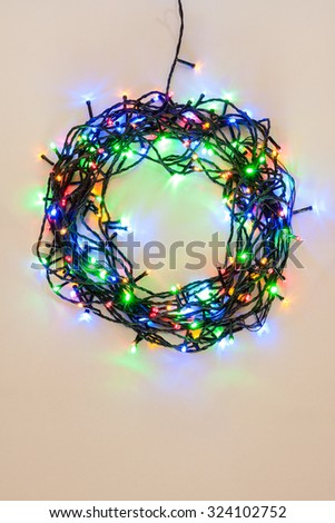 Christmas Wreath Lights Stock Images, Royalty-Free Images ...