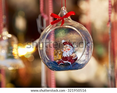 Colorful Christmas market in Strasbourg, Alsace, France - stock photo