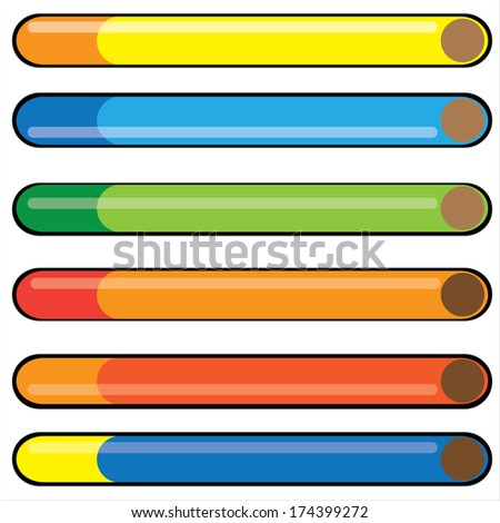 colorful cigarette isolated on white background - stock photo