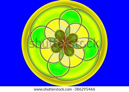 Colorful Circle Background - stock photo
