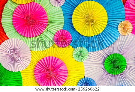 colorful circle shape  paper background - stock photo