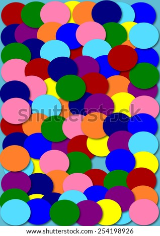 colorful circle shape paper background illustration