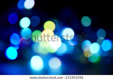 Colorful circles of light abstract background.