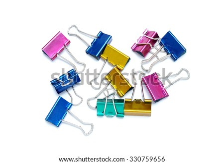 Colorful Clip for document or paper clip attachment