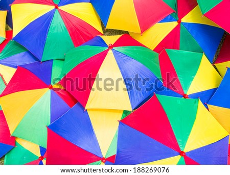 Colorful close up abstract of umbrella  - stock photo