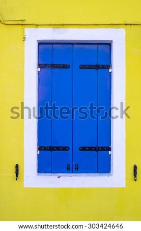 Colorful closed window - stock photo