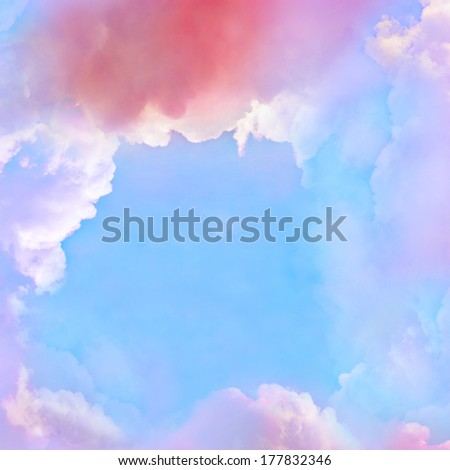 Colorful Cloud background - stock photo