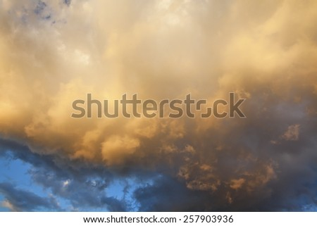 Colorful clouds - stock photo
