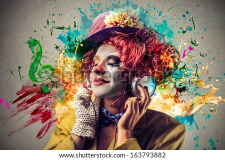 Colorful Clown - stock photo