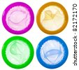 Colorful condoms - stock photo