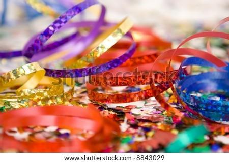 Colorful confetti - stock photo