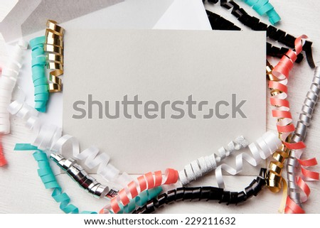 Colorful confetti. Holiday mail - stock photo
