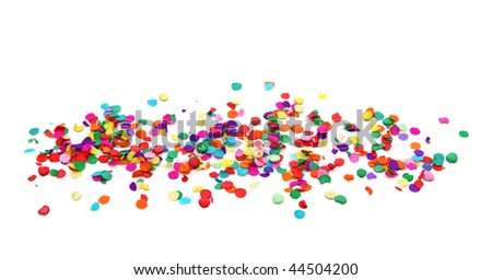 Colorful confetti isolated on white background - stock photo