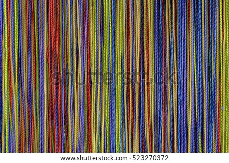 Colorful cords with woven fabric covering, Ho Chi Minh City, Vietnam