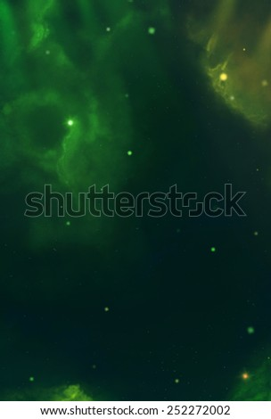 Colorful Cosmos - Green - stock photo