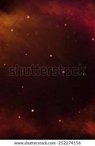 Colorful Cosmos - Red - stock photo
