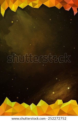 Colorful Cosmos - Yellow - with Header and Footer - stock photo