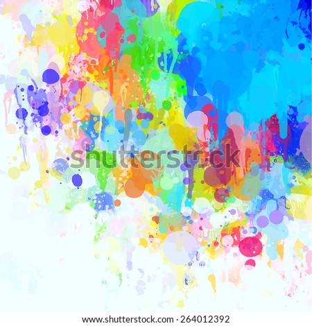 Colorful cover brush strokes background. Raster version  - stock photo