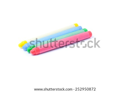 Colorful crayon isolated on white.