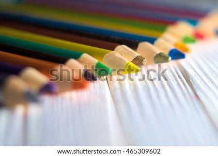 Colorful crayons - beautiful background