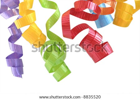 Colorful Curling Ribbon