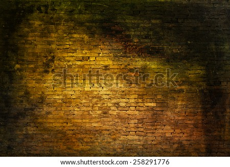 colorful dark brick wall texture - stock photo