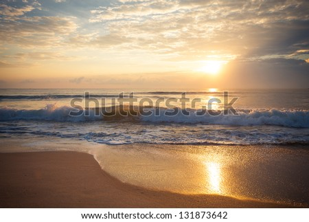 stock photo colorful dawn over the sea nature composition 131873642 - Каталог — Фотообои «Закаты, рассветы»