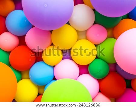 colorful decorative balloon - stock photo