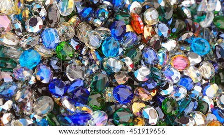 Colorful Decorative Glass Diamonds Cubic Zirconia Pendants - stock photo