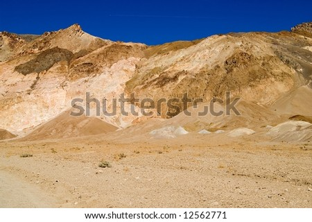 Colorful desert in Death Valley National Park