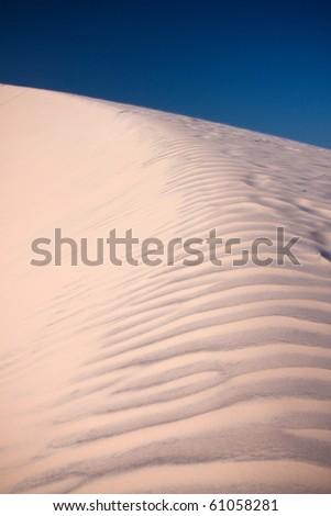 Colorful desert in Lencois Maranhenses, Brazil - stock photo