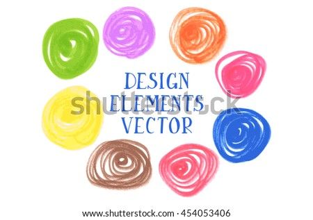 Colorful design element on white background. Raster version. Ideal For graphic design - stock photo